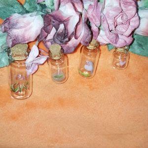 ❤️ Mini Glass Vases - Set of 4